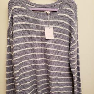 NWT Lauren Conrad Blue Stripe Sweater XL